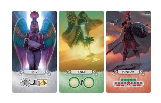 Cartas de dioses de Seven Wonders Duel Pantheon