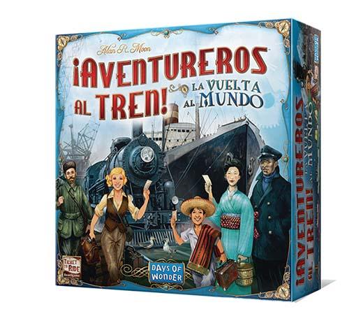 Portada en castellano de aventureros al tren la vuelta al mundo