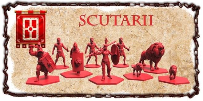 Miniaturas de la escuela scutarii de gladiatoris