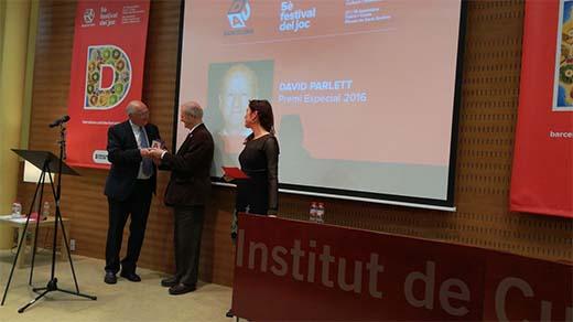 David Parlett Premis DAU Barcelona Una vida de juegos