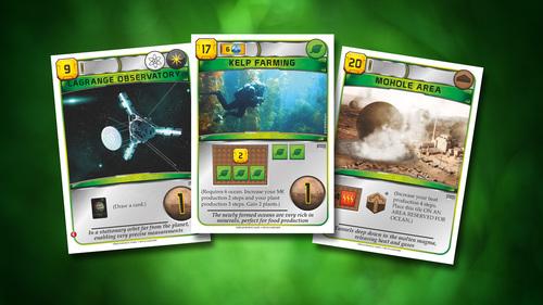 cartas verdes de terraforming mars