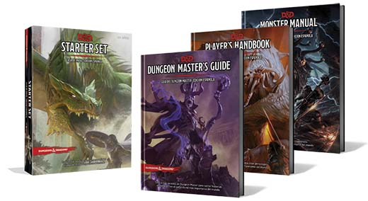 Primeros libros de la quinta edición de dungeons and Dragons que serán traducidos por Edge Entertainment