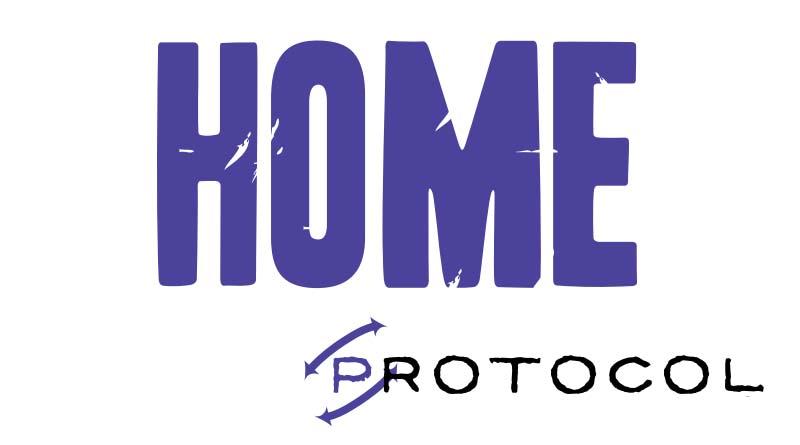 Logotipo de Vuelta al Hogar, primer título de la serie Protocol