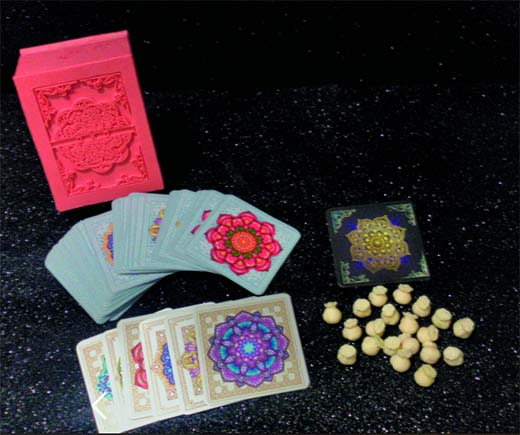 componentes de Oxo the mandala card game