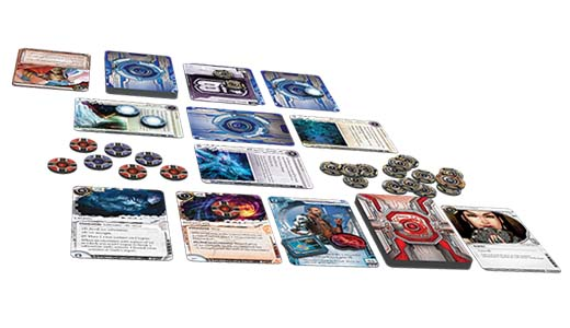 componentes del nuevo revised core set de android netrunner