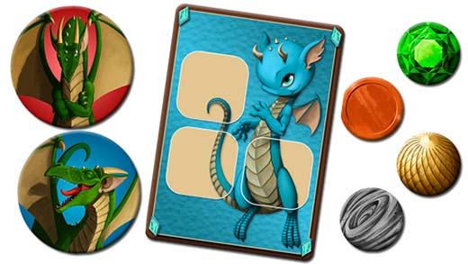 Cartas de dragon de dragon rush