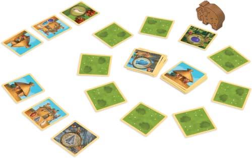 Componentes de Stone Age Junior el juego de cartas
