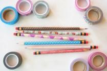 lápices con washi