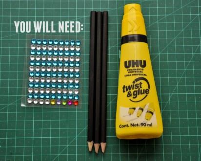 lápiz color materiales