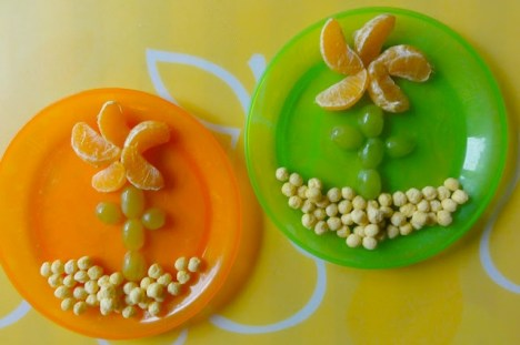 naranja y uva