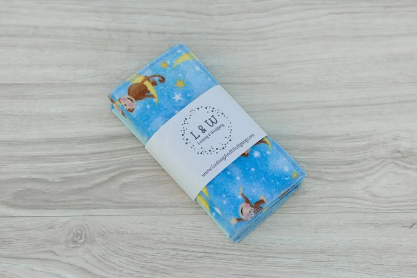 Limited Edition Cute Monkeys Blue Bundle of Wipes (3 ea. 2-Ply, Monkeys,Light Blue) 1