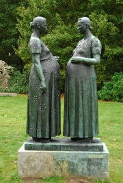 Charles Leplae - Twee zwangere vrouwen