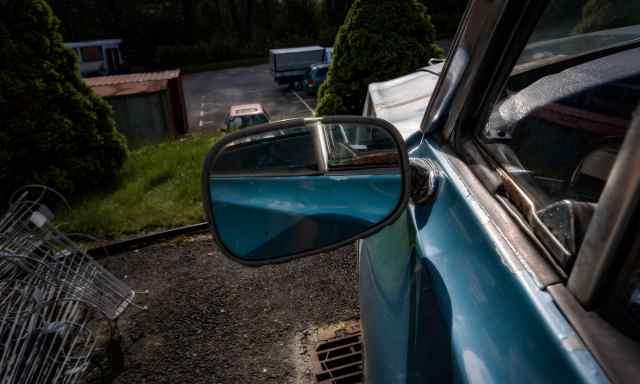 Ford Taunus 17M Super - backspegel förarsida - Ludwig Sörmlind