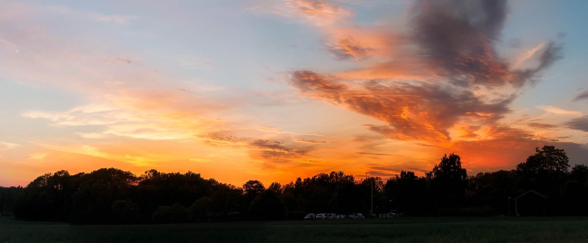 Ett fält i solnedgång strax utanför Mörrum i Blekinge - Ludwig Sörmlind