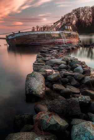 Båtvrak Valjeviken Sölvesborg - Ludwig Sörmlind