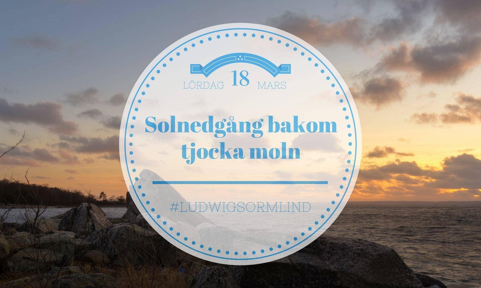 Solnedgång bakom tjocka moln - Ludwig Sörmlind