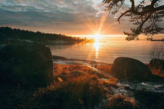 Sternö Sandvik i. Solnedgång i Januari - Ludwig Sörmlind