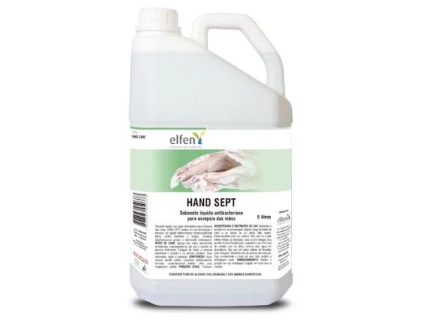 Hand Sept - Sabonete Líquido Antibactericida para as mãos - Galão de 5 litros - Elfen