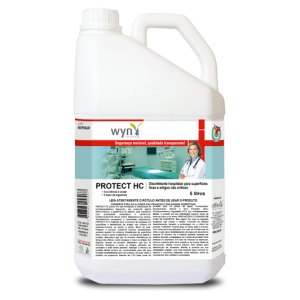 Protect HC – Limpador, Desinfetante e Esterilizante Hospitalar para Superfícies Fixas e Artigos Críticos e Semi Críticos – Galão de 5 litros – Elfen