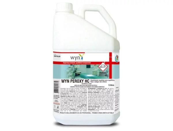 Wyn Peroxy HC - Desinfetante Hospitalar para Superfícies Críticas e Artigos Não Críticos - Galão de 5 litros - Elfen