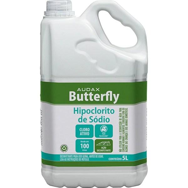 Butterfly Hipoclorito de Sódio - Galão de 5 Litros - Audax