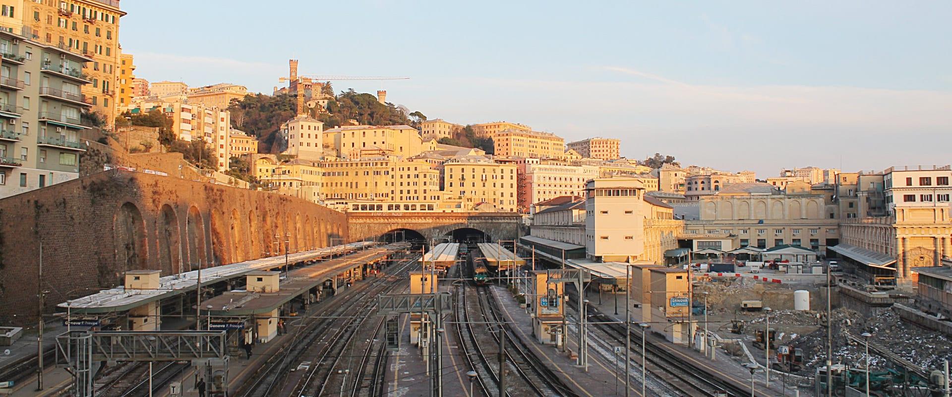 Trem de Genova para Milão