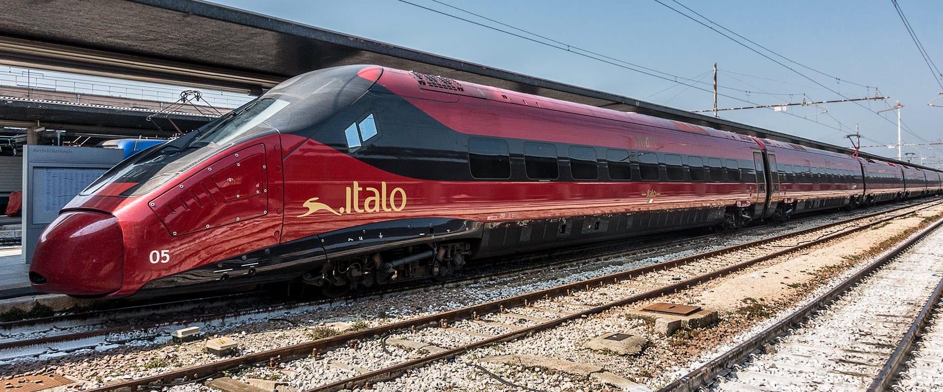Trem de Roma para Veneza