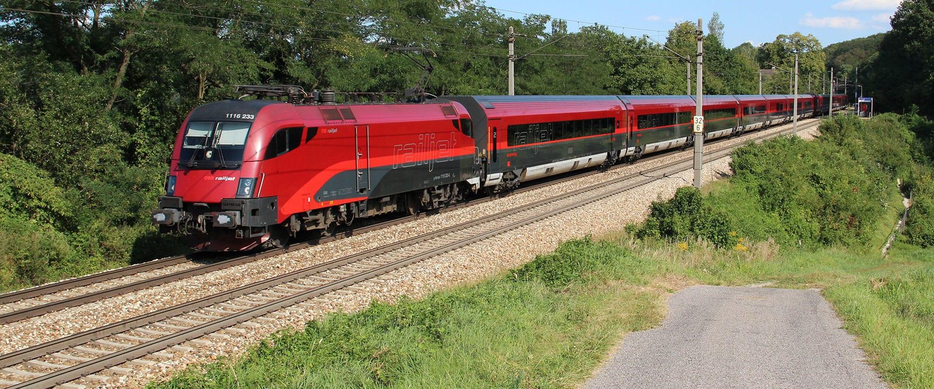 Trem de Munique para Salzburgo