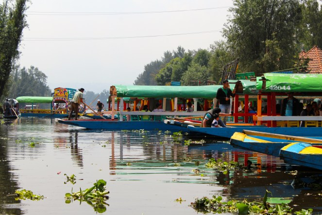 The waterways and boats of Xochimilco (Mexico City)