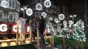 Decoración Puerta del Sol Vigo - Navidad 2018