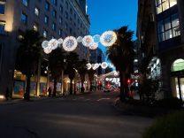 Iluminación de navidad en Colón. Alumbrado Navidad Vigo 2018