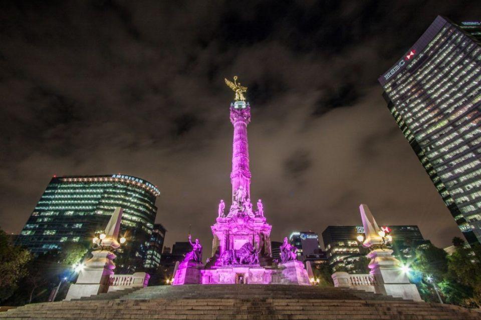 paseo de la reforma y sus monumentos