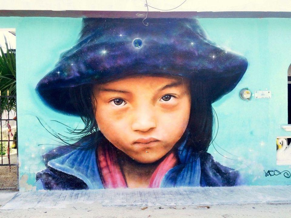 arte callejero en Holbox