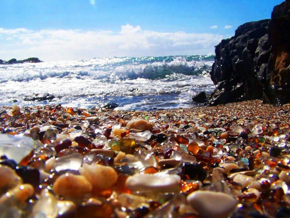 playa de cristal en Vladivostok
