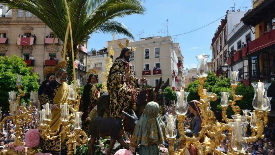 La Borriquita de la Semana Santa de Sevilla