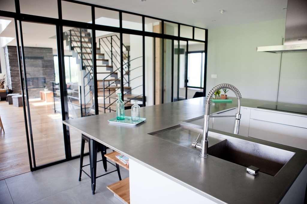 cloison vitre cuisine cuisine avec cloison en verre