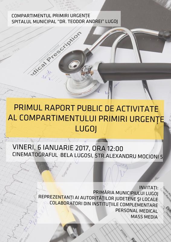 Lugoj Expres Primul raport public de activitate al Compartimentului de Primiri-Urgențe Lugoj Spitalul Municipal