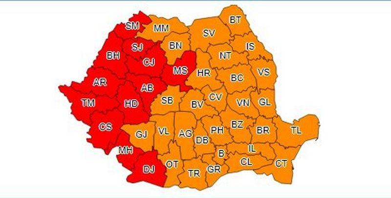 Lugoj Expres Cod roșu de caniculă! În vestul țării temperaturile se vor situa între 39 și 42 de grade temperaturi meteo cod roșu caniculă avertizare