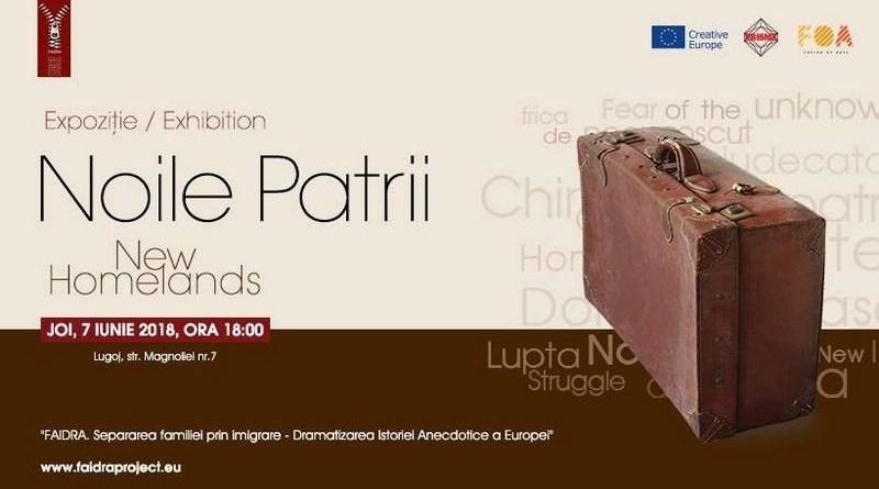 Lugoj Expres Noile Patrii, în expoziție, la FOA spectacol Noile Patrii imigrația Fusion of Arts FOA FAIDRA expoziție