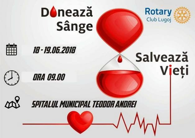 Lugoj Expres Rotary Lugoj organizează o nouă acțiune de donare de sânge spitalul Lugoj sânge salvează vieți Rotary donează sânge donare Clubul Rotary Lugoj campanie Rotary