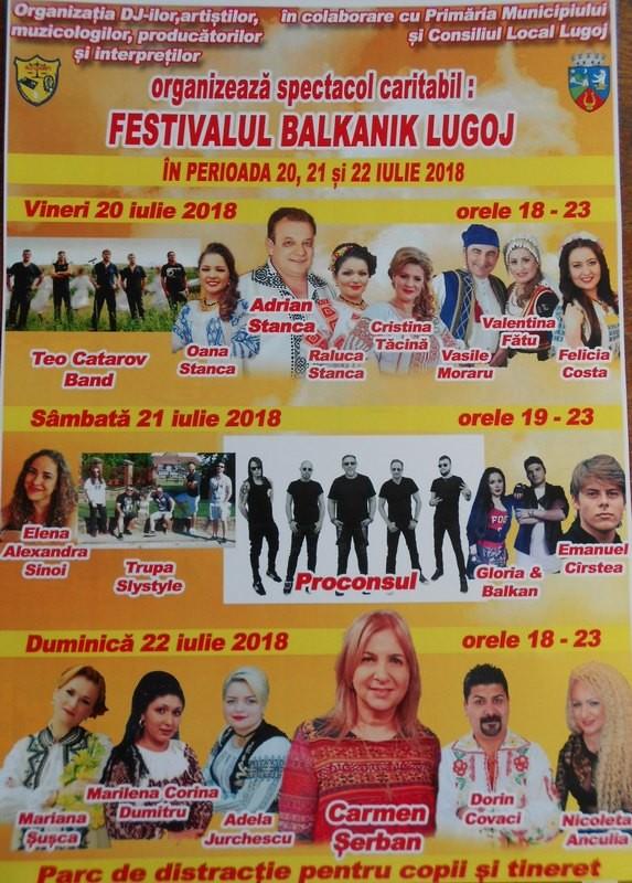 Lugoj Expres Proconsul și Carmen Șerban, la Festivalul Balkanik, de la Lugoj spectacol Proconsul parc de distracții Lugoj folclor Festivalul Balkanik festival Carmen Șerban