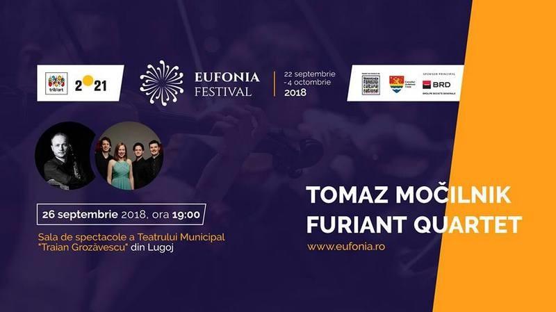 Lugoj Expres Festivalul Eufonia 2018, la Lugoj. Concert de muzică clasică la Teatrul Municipal tributul artistic Tomaz Mocilnik Timișoara 2021 muzică clasică Lugoj Furiant Quartet festival Eufonia concert