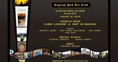 Lugoj Expres Dublă lansare de carte, la English Pub Art Club recital acustic lansare carte eveniment English Pub Art Club debut Cornelia Mariș carte