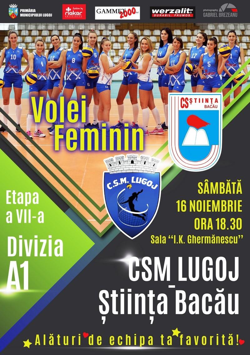 Lugoj Expres Invitație la volei: CSM Lugoj întâlnește Știința Bacău volei feminin volei Știința Bacău meci Divizia A1 CSM Lugoj