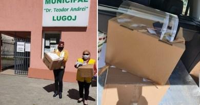 """Lugoj Expres Clubul Lions """"Ana Lugojana"""" a donat 100 de viziere Spitalului Municipal Lugoj viziere sprijin Spitalul Municipal Lugoj spital Lions donație Clubul Lions """"Ana Lugojana"""""""