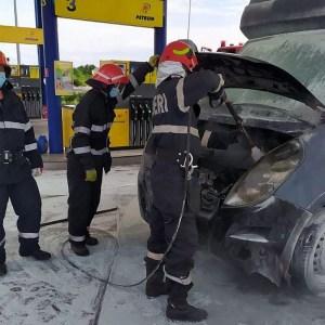Lugoj Expres incendiu camioneta benzinarie 5