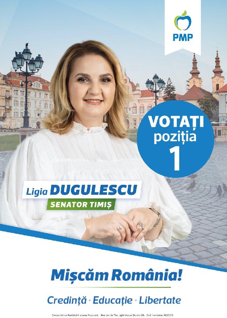 """Lugoj Expres Ligia Iunia Dugulescu: """"Cred în schimbare. Vino alături de mine!"""" (P) Senatul României schimbare PMP Ligia Iunia Dugulescu experiența"""