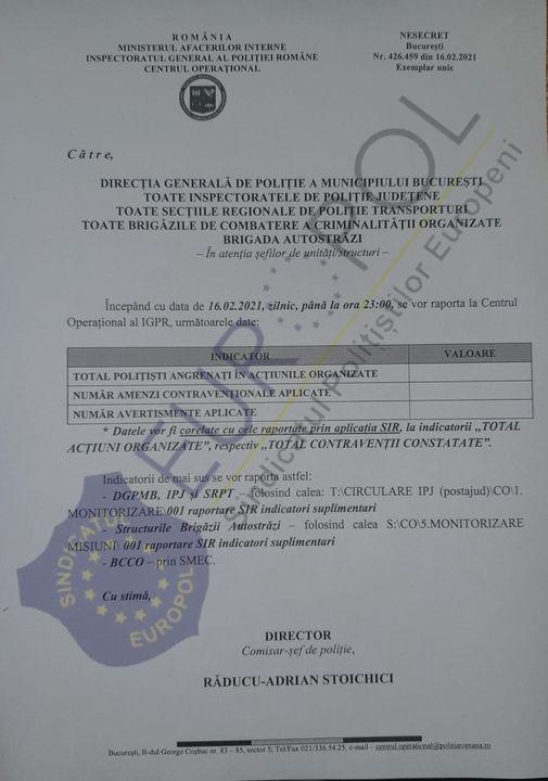 """Lugoj Expres Atenție, șoferi! Polițiștii au primit... """"normă de amenzi"""" sindicat Polițiști normă de amenzi EUROPOL document atenție șoferi"""
