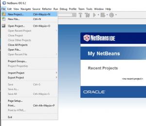 Nuevo Proyecto en NetBeans