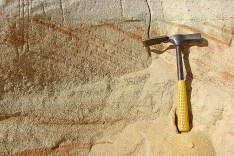 Скісна шаруватість в тріасових пісках річкового походження